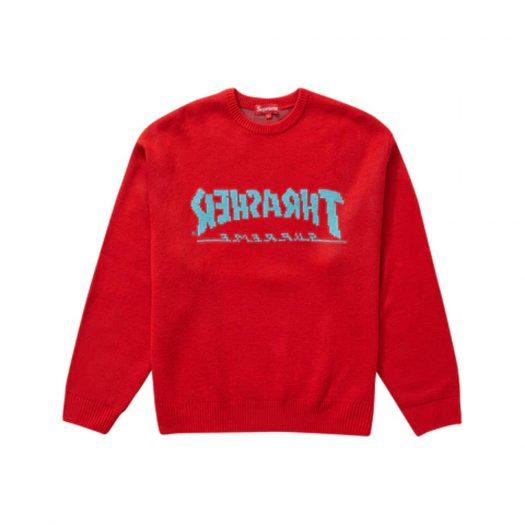 Supreme Thrasher Sweater Red