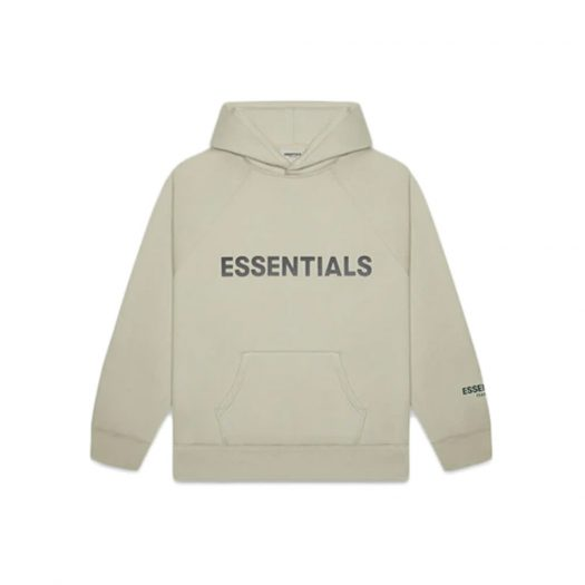 Fear of God Essentials Pullover Hoodie Applique Logo Moss