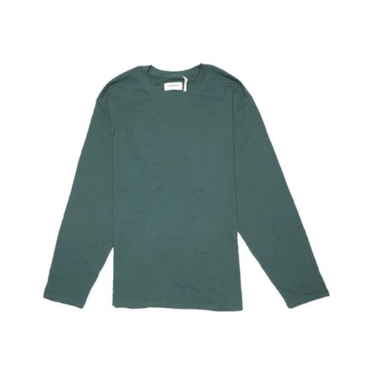 Fear of God Essentials Boxy Graphic Long Sleeve T-shirt Green