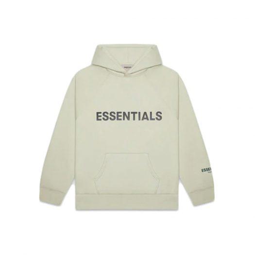 Fear of God Essentials Pullover Hoodie Applique Logo Alfalfa Sage