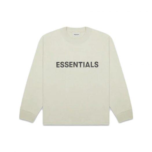 Fear of God Essentials Boxy Long Sleeve T-Shirt Applique Logo Alfalfa Sage