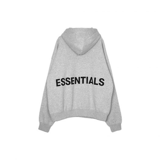 Fear of God Essentials Logo Pullover Hoodie Grey (With Black Print