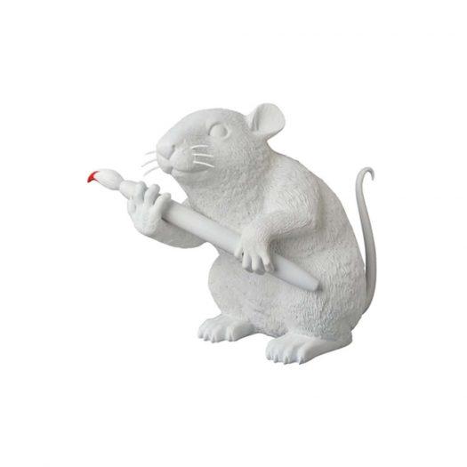 Banksy Love Rat Figure White