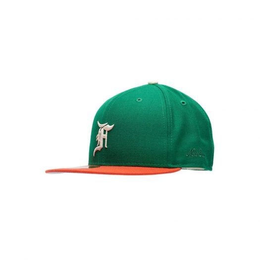 Fear of God Essentials New Era 59Fifty Fitted Hat (FW21) Green/Orange
