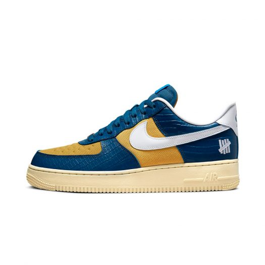 Nike Air Force 1 Low SP Undefeated 5 On It Blue Yellow Croc